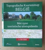 Topografische Kaartenmap België Met 1500 Toeristische Uitstapideeën / Touring Lannoo - Prácticos