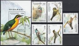 Cambogia 1994 Sc. 1397-1402 Birds Uccelli  Cambodia Cambodge Nuovo CTO Full Set + Sheet - Sparrows