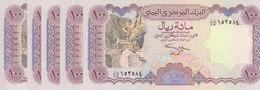 YEMEN 100 RIAL 1993 P-28 Sig/ 9 ALUWI LOT X5 UNC NOTES  */* - Yemen