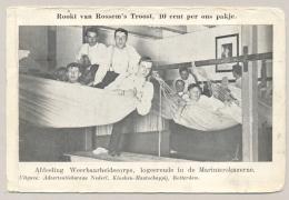 """Nederland - 1918 - Afdeling Weerbaarheidscorps Op Reklamekaart """"Rookt Van Rossem's Troost, 10 Cent Per Ons Pakje"""" - Oorlog 1914-18"""