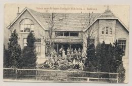 Nederland - 1918 - Fotokaart Tehuis Voor Militairen - Harskamp , Militair Verstuurd Naar Hoogeveen - Oorlog 1914-18