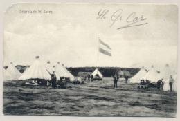 Nederland - 1906 - Fotokaart Legerplaats Bij Laren, Tentenkamp Van KR Laren Naar GR Haarlem - Guerre 1914-18