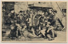 Nederland - 1940 - Vrolijke Militairen Op Ansicht Van Soldaat Van Rijnsburg Naar Friesland - War 1939-45