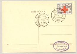 Nederland - 1957 - Grenscorrectie: Höngen (Lb.) Nederlands Stempel, Höngen Is Weer Duits Geworden - Marcophilie