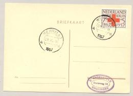 Nederland - 1957 - Grenscorrectie: Wehr (Lb.) Nederlands Stempel, Wehr Is Weer Duits Geworden - Marcophilie
