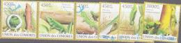 REPTILES - COMOROS -  2009 - REPTILES  SET OF 5 + STAMP FROM S/SHEET FINE USED - Reptiles & Amphibians