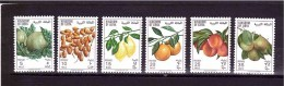 LIBYA 1968    Yvert Cat N° 336/41  Cpl Set Of 6 Mint Never Hinged  Perfect Condition - Fruits