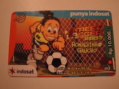 1 Remote Phonecard From Indonesia - Football - Ronaldinho - Indonesia