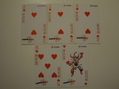 5 Remote Phonecards From Indonesia - Card Game - Indonesia