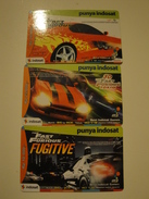 3 Remote Phonecards From Indonesia - Fast & Furious - Indonesia