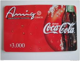 1 Remote Phonecard From Colombia - COMCEL - Amigo - Coca-cola - Colombia