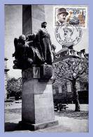 Carte Maximum - 28 Novembre 1987 - Strasbourg (67) - 2,20F. Général Leclerc Maréchal De France - Statue à Strasbourg - 1980-89