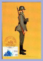 Carte Maximum - 10 Sept 1988 - Paris (75) - 2,20F. Armistice Du 11 Novembre - Musée De L'Armée - Uniformes - Allemagne - 1980-89