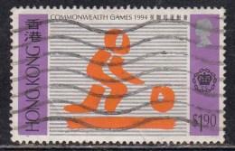 $1.90 Used Commenweath Games 1994, Hong Kong Sport, Bowls, Ball, - Hong Kong (...-1997)