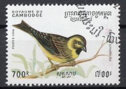 Cambogia 1994 Sc. 1400 Birds Uccelli - Migliarino Di Palude - Emberiza Schoeniclus - Cambodia Cambodge Nuovo CTO - Sparrows