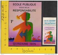 Erinophilie Moyenne Vignette  Quinzaine école Publique 1975 - Erinofilia