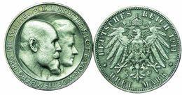 3 Mark 1911 Württemberg Charlotte Wilhelm II - Germania