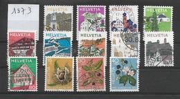 LIQUIDATION / SUISSE Année 1973 ~ SUITE  ~ / 13 Timbres Oblitérés / Seront Livrés En Vrac - Gebraucht