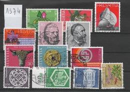 LIQUIDATION / SUISSE Année 1974 / 13 Timbres Oblitérés / Seront Livrés En Vrac - Gebraucht