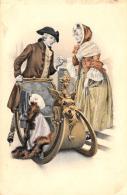 [DC11397] CPA - BELLA CARTOLINA UOMO E DONNA CON SLITTA - PERFETTA - Non Viaggiata - Old Postcard - Illustratori & Fotografie