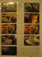 9 Remote Phonecards From Venezuela - Un1ca - Animals - Venezuela