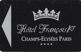 FRANCIA    KEY HOTEL   Hôtel Francois 1er  PARIGI - Hotel Keycards