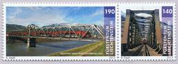 Liechtenstein 2013 Railway Bridge Mountain Mountains Railjet Stamp MNH ** - Liechtenstein
