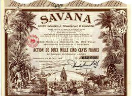 SAVANA - Société Industrielle, Commerciale Et Financière (Pondichéry, Indes) - Azioni & Titoli