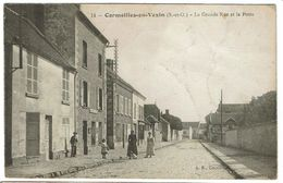 CPA - 95 - CORMEILLES EN VEXIN - La Grande Rue Et La Poste - - Cormeilles En Parisis