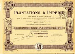 PLANTATIONS D'IMPÉRIE (Côte D'Ivoire) - Azioni & Titoli