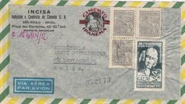 COVER BRASIL. DECEMBRE 1954. INCISA CIMENTO IPANEMA. SAPAULO TO CELIGNY GENEVE SWITZERLAND - Covers & Documents