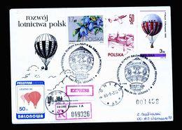 A5101) Polen Poland R-Express-Ballonbrief Leszno 3.9.88 - 1944-.... Republik