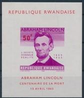 Rwanda 1965 OCBnr. Bloc 3 Ongetand ND *** MNH Abraham Lincoln Cote 65,00 Euro - 1962-69: Nuevos