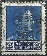 ALBANIA 1939 ASSEMBLEA COSTITUENTE 25 Q USATO USED OBLITERE' - Albania