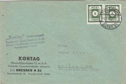 Allemagne Zone Soviétique Lettre De Dresden 1946 - Zone Soviétique