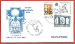 BUSTA VATICANO - 2001 - ANNO SANTO 2000 - Io Paulus II Portam Sanctam Claudit - ANN. 06 - 01 - 2001 - Lettres & Documents