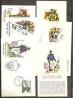 1972 Italia Italy Repubblica STORIA DELLE TRUPPE ALPINE 1872/1972 Giro Di 15 Cartoline + 15 Buste Annullo 10/5/72 - Militaria