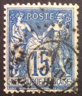15 C P5 Cachet D'Essai Pl. De La Bourse Paris H 606 - Marcophilie (Timbres Détachés)