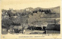 E5 39 LONS LE SAUNIER Quartier De La Gare Départ Du Train - Lons Le Saunier