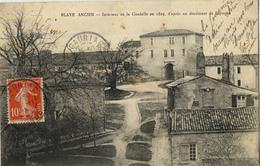 33 BLAYE ANCIEN INTERIEUR CITADELLE EN 1829 - Blaye