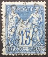 15 C P6 Cachet D'Essai Pl. De La Bourse Paris - Marcophilie (Timbres Détachés)