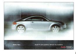 AUDI TT Quattro - Werbekarte Von Audi - PKW