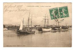 85 - L'AIGUILLON SUR MER LE PORT A MARÉE BASSE - ÉDITION BAZAR GOURAUD - 17 AOUT 1911 - VOILIER - 2 Scans - Autres Communes