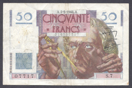 50 Francs Le Verrier 2-5-1946 - 1871-1952 Circulated During XXth