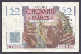 50 Francs Le Verrier 2-5-1946 - 1871-1952 Antiguos Francos Circulantes En El XX Siglo