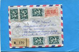 Marcophilie-Sénégal-lettre REC  >France Cad Bignona 1959-6-stamp A O F N +62 Café+39 - Senegal (1887-1944)