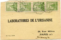 POLOGNE CARTE POSTALE BON POUR UN FLACON ECHANTILLON D'URISANINE DEPART SIEDLCE 19 I 26 POUR LA FRANCE - 1919-1939 Republic