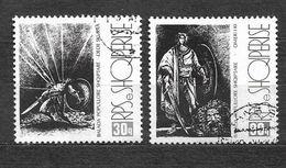 ALBANIA 1988, YVERT 2169J-2169K, MICHEL 2374-2375 VF  USED. - Albanie