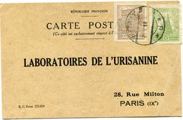 POLOGNE CARTE POSTALE BON POUR UN FLACON ECHANTILLON D'URISANINE DEPART VARSOVIE 28 V 26 POUR LA FRANCE - 1919-1939 Republik