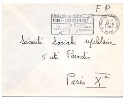 MARNE - Dépt N° 51 = CHALONS S/ MARNE GARE  1966 = FLAMME Codée = SECAP Illustrée De MERCURE  'FOIRE EXPOSITION ' - Marcofilia (sobres)
